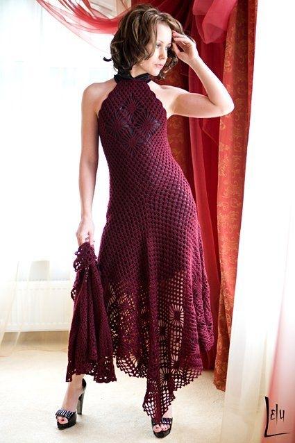 свой цитатник или сообщество!  Как связать платье крючком.  Посмотрите схемы вязания платья крючком.