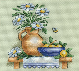Набор для вышивания Ромашки, PANNA Н-0514 купить в санкт петербурге Шале, Aida 14 (К04.
