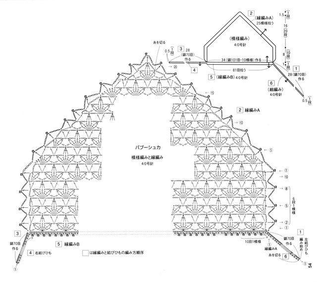 Схема косынки и нескольких вариантов обвязки ЗДЕСЬ. . Вязание крючком. как связать пуховый платок схема