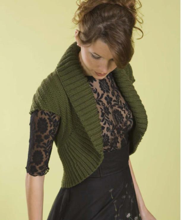 Спинку болеро вязать поперёк на спицах, нижнюю часть спинки, воротник и полочки Рубрика: Вязание спицами для женщин