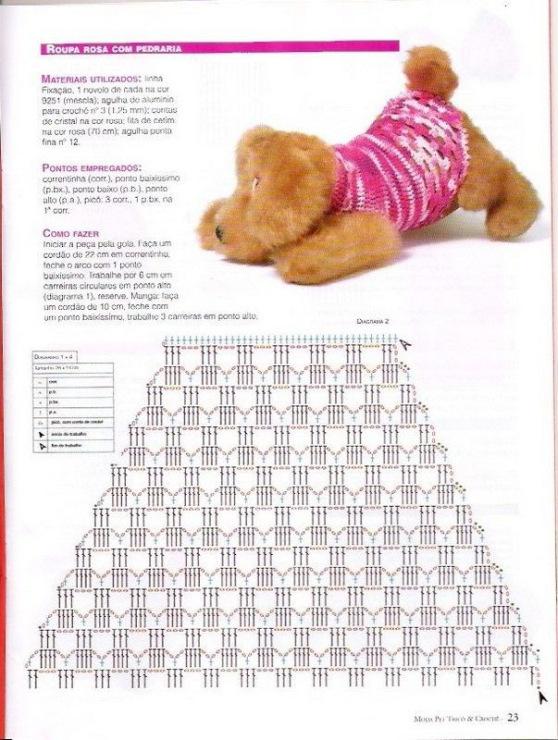 схемы вязания одежды для шпица