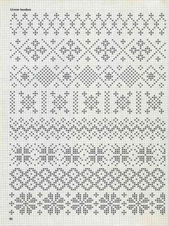 Схемы вязания жаккарда на спицах 119