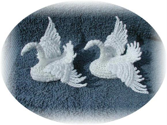 Вязание - Лебеди.