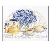 """Вышивка крестом.  Схемы вышивки  """"посуда цветы кухня """".  Автор схемы. gemini6."""