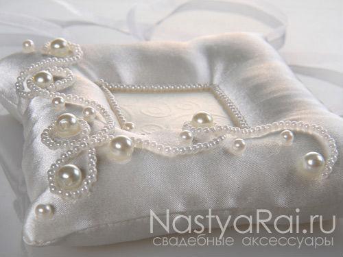Свадебная подушка с углублением для колец своими руками
