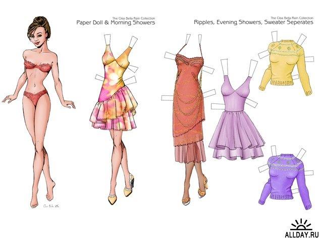 Одежда для бумажных кукол своими руками видео