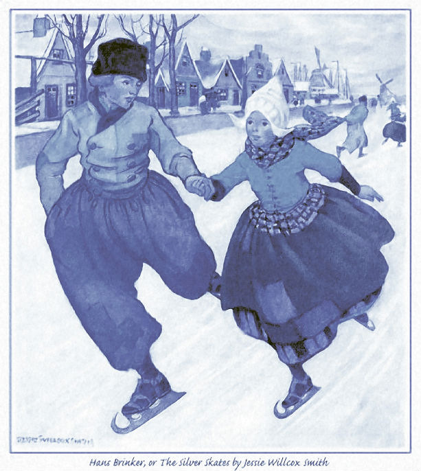 Зимние катания на коньках картинки ретро для декупажа