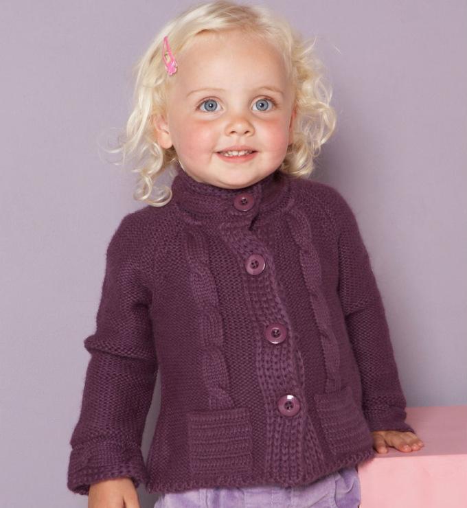 Вязание спицами кофт для детей фото