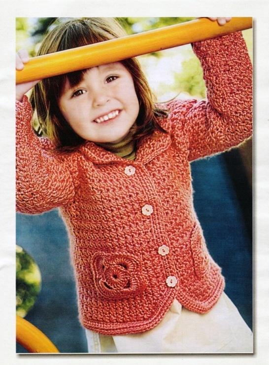 вязанные кофточки для девочек. Вязание детских летних кофточек Вязание для детей спицами и крючком