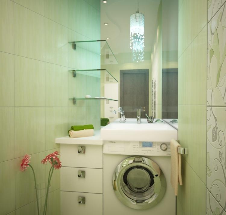 Дизайн стиральной машины и раковины