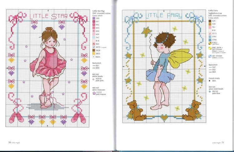 Схема для вышивания крестиком для девочек