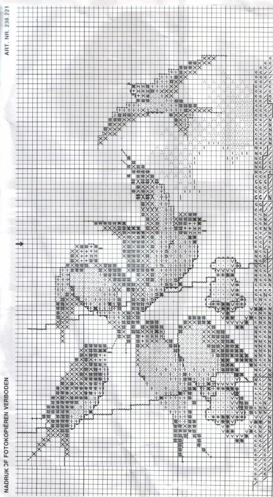 Ласточка схема вышивки 92
