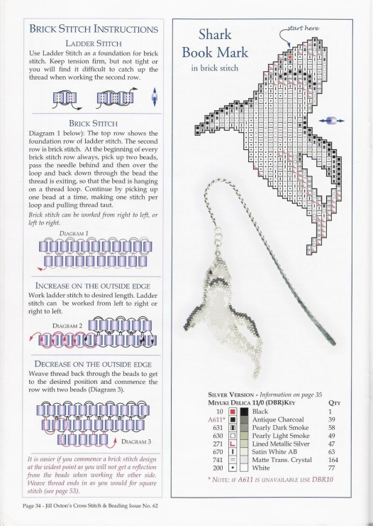 Схема вязано акулы