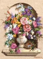 ...с нанесённым рисунком) Не требует пялец или рамы. шерстяные нити канва страмин схема, инструкция, игла. цветы.
