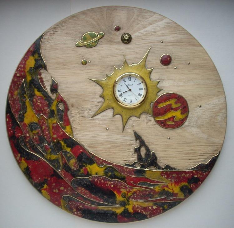 Декоративные часы своими руками